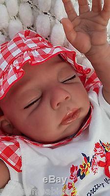 Bi Racial Ethnic Baylee Reborn Baby Doll Soft Silicone Vinyl / Sunbeambabies