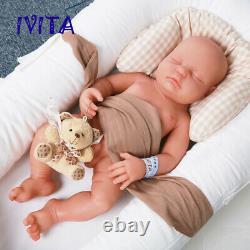 Birthday Gift Doll IVITA 18 Lifelike Sleeping Baby Silicone Rebirth Baby Doll