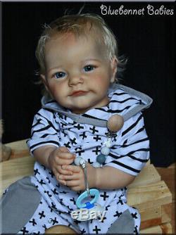 Bluebonnet Babies REBORN Big Baby Blonde Boy Tobiah Laura Lee Eagles 22