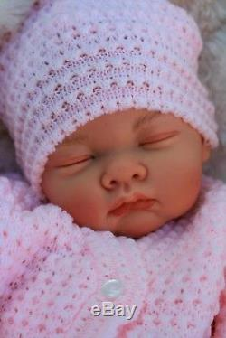 Butterfly Babies Reborn Baby Girl Doll Pink Knitted Spanish Outfit S016