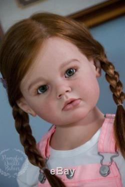 CUSTOM ORDER Child Size Reborn Doll Baby Girl Angelica by Reva Schick Mannequin