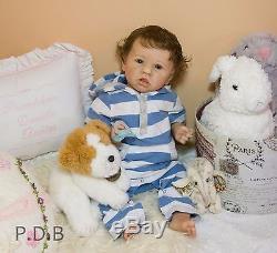 CUSTOM ORDER Reborn Doll Baby Girl Saskia by Bonnie Brown