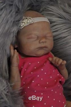 Callie Full Body Silicone Newborn baby girl by Linda Webb
