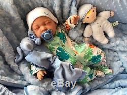 Childrens Reborn Starter Baby Box Opening Sleeping Nial 18 2lb 2oz New Uk