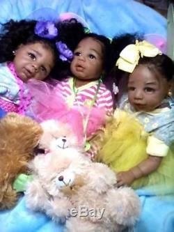 Christmas Custom orders (AA), Biracial, Ethnic Realistic Baby Girl Doll, Kyra