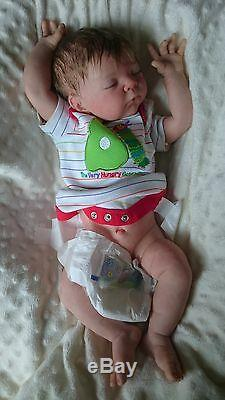 Custom Bespoke Serah sammie made reborn newborn fake baby life doll silicone