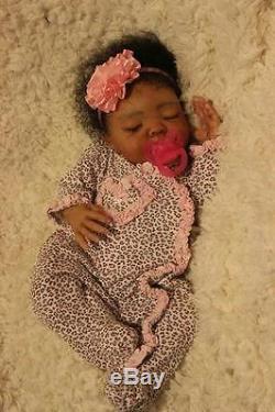 Custom Order Ethnic AA Reborn sleeping biracial Baby Doll