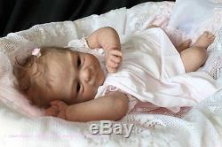 Custom Reborn Baby Elisa Marx sculpt with belly plate Realistic 3d skin