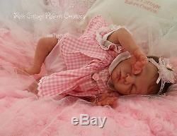 Custom Reborn Baby doll ROSEBUD 14.5 Preemie Free US Ground Shipping