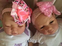 Custom Stunning Reborn Twins Baby Girl Lotty And Anna Newborn Child Friendly