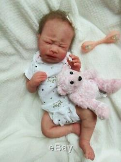DARLING Full body SOLID SILICONE Baby GIRL Doll Preemie KATE