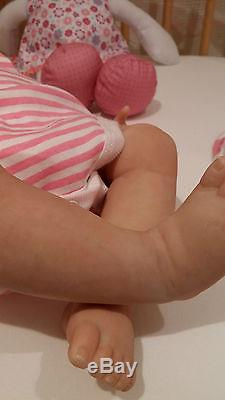 Donna Rubert Reborn Realistic Baby Girl Doll Newborn Soft Silicone Vinyl