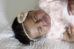 Ethnic AA Bi-racial reborn baby girl Gia, Artist Donnetta @ Kay's Nursery