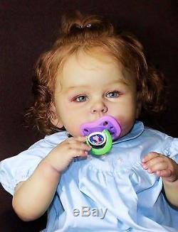 Ethnic Bi-racial reborn Toddler Octavia, reborn artist Kay's Nursery