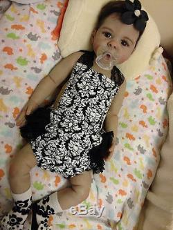Exquisite Full Body Silicone baby girl 3 months (big baby) Biracial, Ethnic