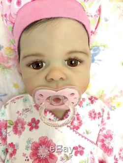 Exquisite Full Body Silicone Baby Girl 3 Months Big Baby