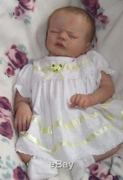 FINAL REDUCTION Reborn baby GIRL MONROE by Sandy Faber Rooted Hair