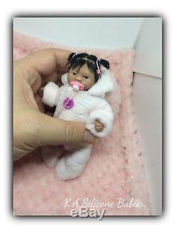 Full Body Mini silicone baby Girl Jasmine (with hair)