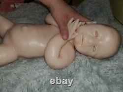 Full Body Silicone Baby Girl Unpainted Kit 18 Newborn BLANK KIT