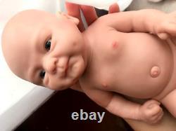 Full Body Silicone Reborn Baby Doll Realistic Lifelike Boy Doll Bebe Reborn Doll