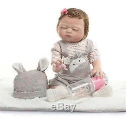 Full Body Silicone Reborn Baby Dolls Anatomically Correct Twins 20 Boy + Girl