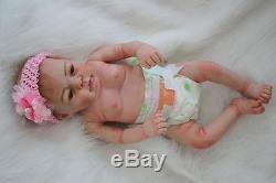 Full Body Silicone Vinyl 22 Newborn Reborn Baby Doll Girl 100% Handmade Dolls
