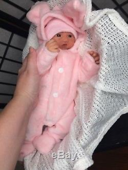 Full Body Silicone baby Girl Fiona (14 Inches)