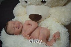 Full Body Soft Solid girl PREMATUR17Silicone Baby doll/REBORN drink liq