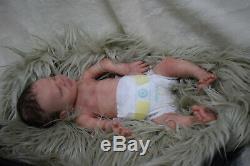 Full Body Soft Solid girl PREMATURE 15 Silicone Baby doll/REBORN SILICONA