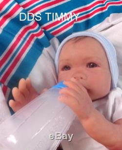 Full Body Solid Platinum Silicone Baby Ecoflex 20 Timmy #6 Drinks/wets/poops