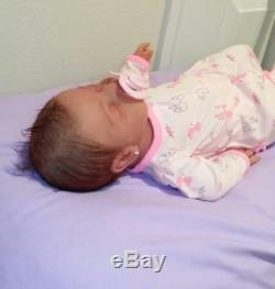 Full Silicone 19 Baby Girl Kenzley With Rooted Hair Drink & Wet (Kid Friendly)