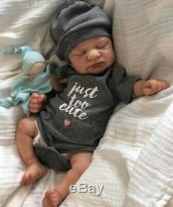 Full Silicone Preemie Baby Girl Drink and Wet Beautiful Realistic Doll LE- COA