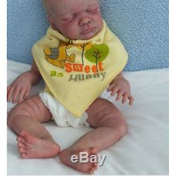 Full Solid Silicone Reborn Kits Head 3/4 Limbs for Reborn Baby Lifelike Doll DIY