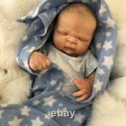 Full Vinyl Childrens Reborn Doll Baby Boy Maddox Realistic 20 Painted Hair