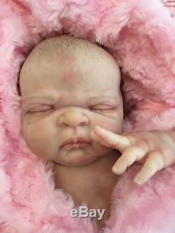 Full Vinyl Childrens Reborn Doll Baby Girl Maggie Realistic 20 Painted Hair