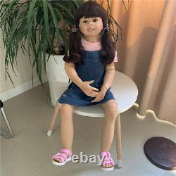 Full Vinyl Reborn Toddler Girl 39 Model Baby Reborn Baby Dolls Girl Large Size
