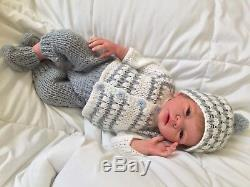 Full body Reborn Solid Silicone EcoFlex 20 Baby Boy Charlie By Elena Westbrook
