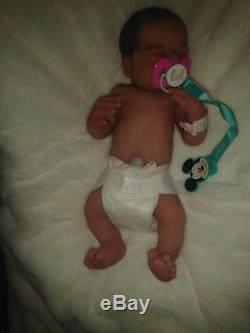 Full body silicone baby doll by Linda Moore