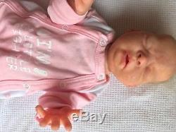 Full body silicone baby preemie REALISTIC molded newborn head by Oxana Lukyanet
