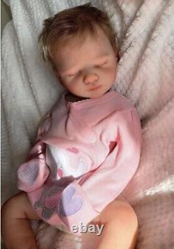 Full body silicone reborn baby girl doll