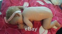 Full body solid ecoflex silicone baby girl Spencer by Lorna Miller Sands/COA