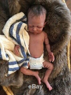 Full body solid silicone baby boy doll Forest #4 by Caroline Nelsen