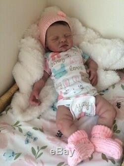 Full body solid silicone baby girl doll Meg, custom order