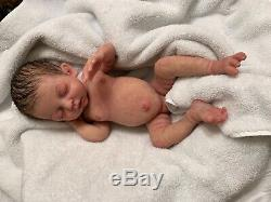 Full body solid silicone newborn preemie reborn baby girl doll Madeline by C. Ne