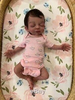 Full body solid silicone preemie baby girl, Madeline, by Caroline nelsen