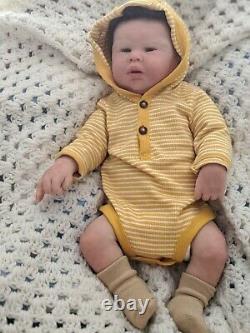 Full body solid silicone reborn newborn baby boy Noah