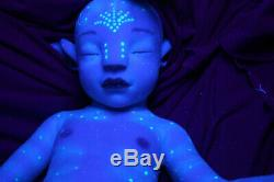 Full silicone 20 N'avi AVATAR reborn baby doll anatomically correct BOY custom