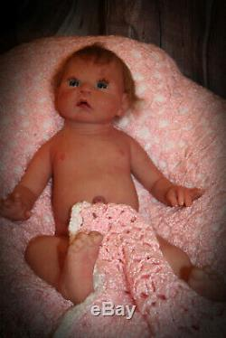 Full solid body silicone baby open eye baby girl 20 8 lbs reborn custom made