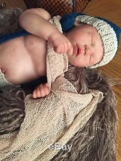 HTF reborn baby cassie bracezachary male gender plate /COA