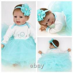 Handmade 22 Real Lifelike Baby Dolls Soft Vinyl Silicone Reborn Newborn Girl